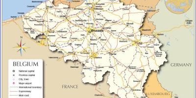 Cartina Fisica Belgio.Bruxelles Cartina Geografica Bruxelles Cartina Geografica Belgio